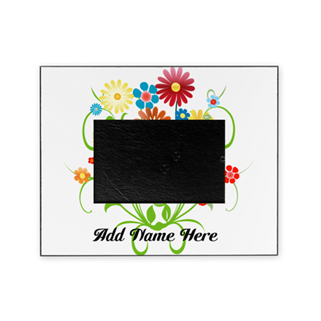 Personalized floral light Picture Frame