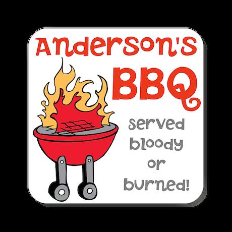 Personalized BBQ Square Coaster