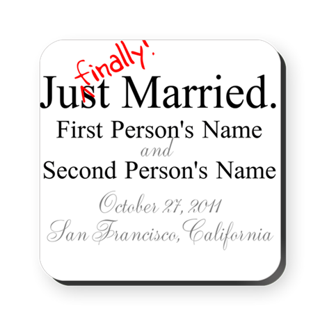 Finally Married Square Coaster
