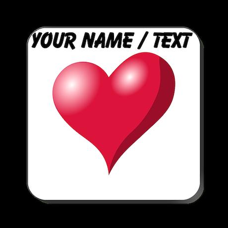 Custom Pink Heart Cork Coaster
