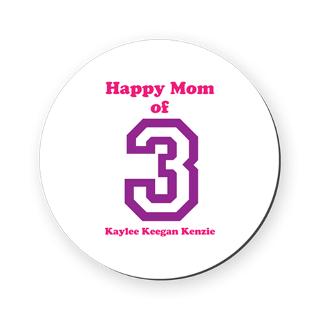 Personalized Mother Round Coaster