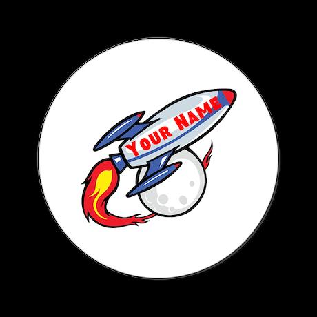 Personalized rocket Round Coaster