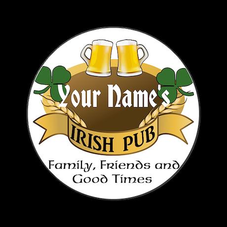 Personalized Name Irish Pub Cork Coaster