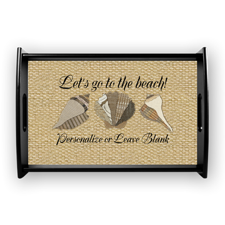 lets go to the beach personaliz coffee tray by simplefavorites. Black Bedroom Furniture Sets. Home Design Ideas