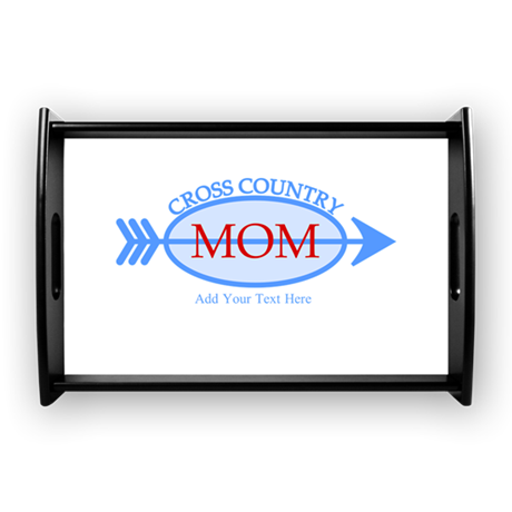Cross Country Mom Blue Text Coffee Tray