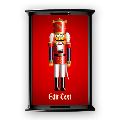 Personalized Nutcracker Head Small Serving Tray