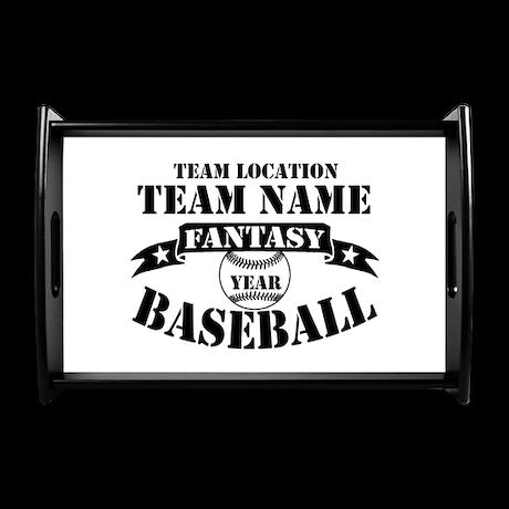 Personalized Fantasy Baseball Small Serving Tray
