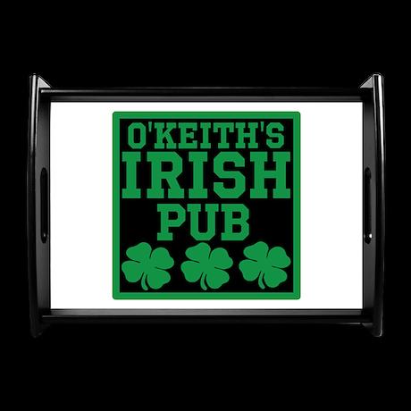 Personalized Irish Pub Large Serving Tray