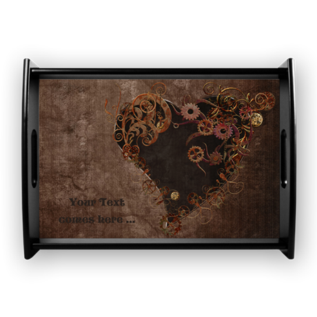 Steampunk Heart Large Serving Tray