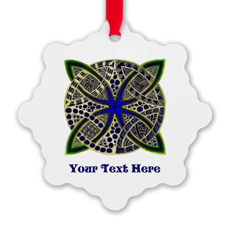 Customize this Symbolic Celtic Knot Doodle Snowfla