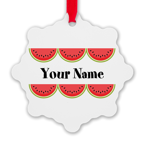 Watermelons Personalized Ornament