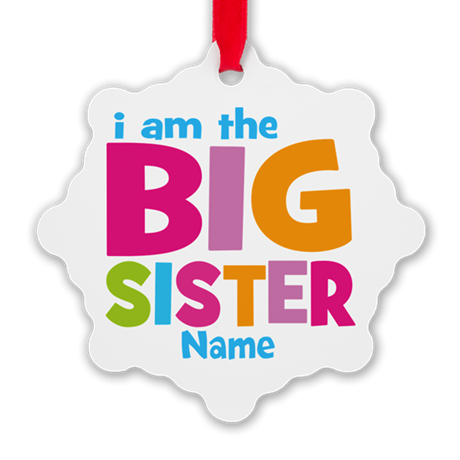 Big Sister Personalized Snowflake Ornament