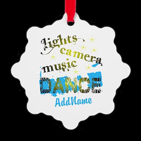 Personalized Dance Snowflake Ornament