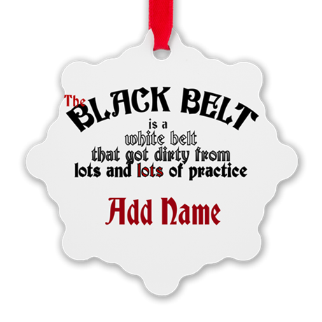 The Black Belt is Snowflake Ornament