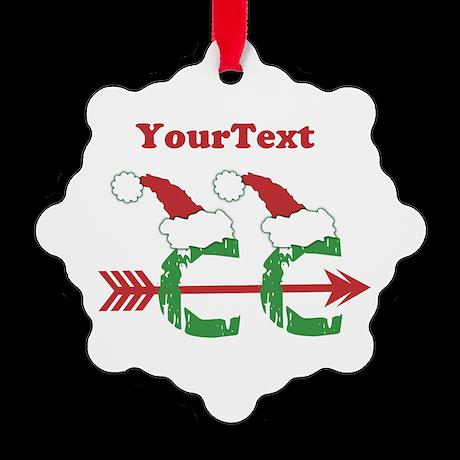 Customize © Cross Country Xmas Snowflake Ornament