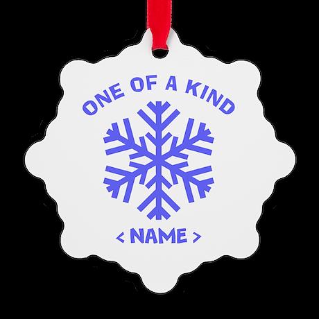 Personalize Christmas Snowflake Snowflake Ornament