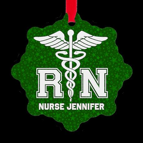 Personalized Rn Snowflake Ornament