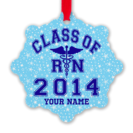 Class Of 2014 Rn Snowflake Ornament
