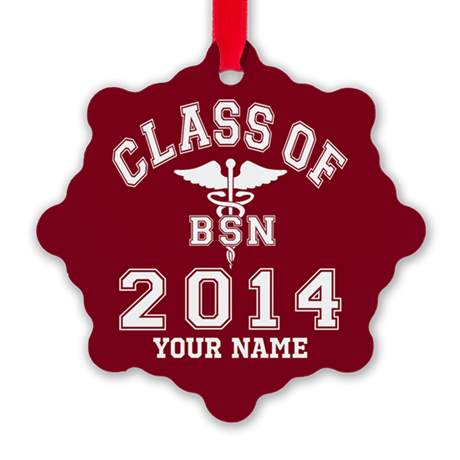 Class Of 2014 Bsn Snowflake Ornament