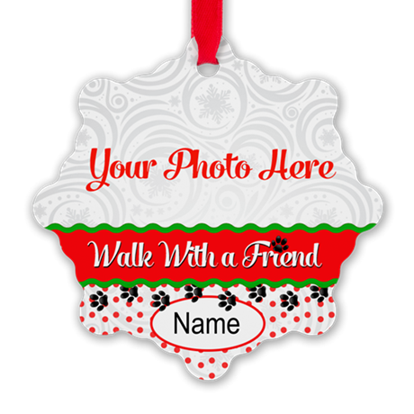 Walk With A Friend Snowflake Ornament