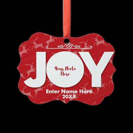 Family Photo Joy Personalizable Ornament