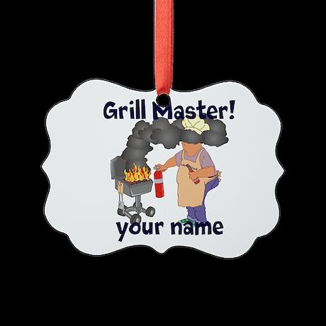 Personalized Grill Master Picture Ornament
