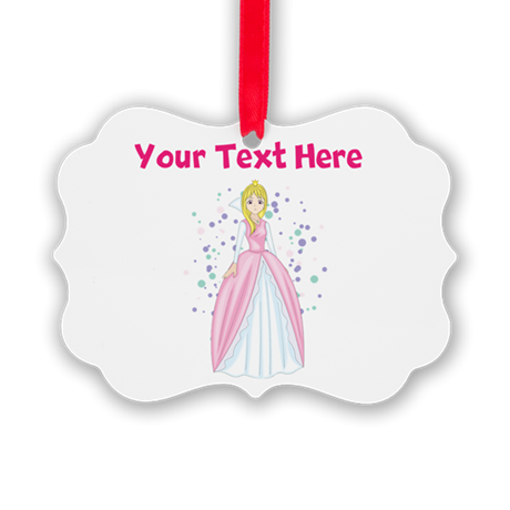 Personalize This Princess Picture Ornament