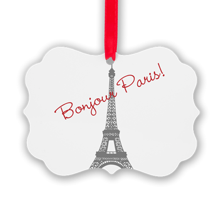 Eiffel Tower Picture Ornament