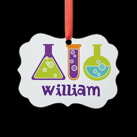Personalized Scientist Picture Ornament