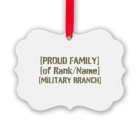 PERSONALIZED Military Family [vintage] Picture Orn