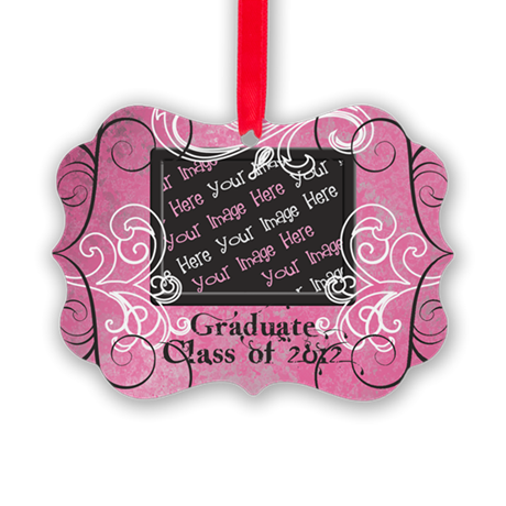 PINK Class of 2012 Graduate Picture Ornament