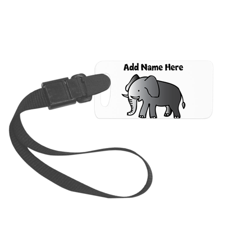 Personalized Elephant Small Luggage Tag