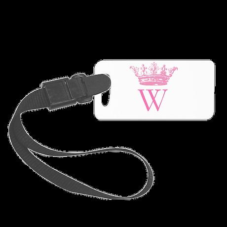 Vintage Crown Monogram Luggage Tag