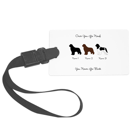 3 Newfs - Black, Brown, Landseer Large Luggage Tag