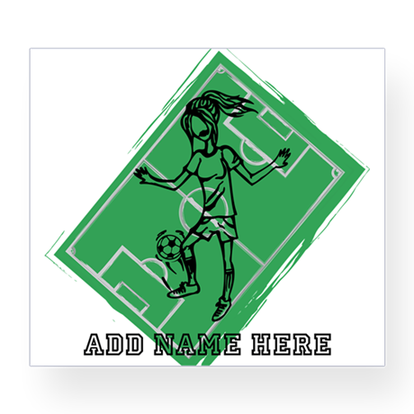 Personalized Soccer girl MOM design Wine Label