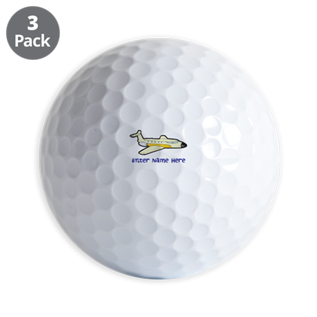 Personalized Airplane Golf Balls