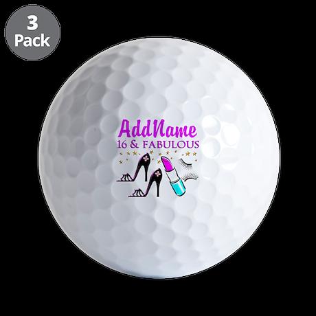 SNAZZY 16TH Golf Balls