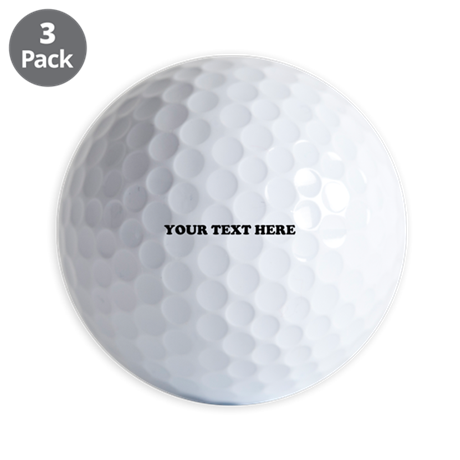 Custom Text Golf Balls