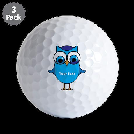 Custom Blue Owl Branch Golf Balls