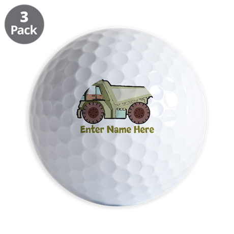 Personalized Dump Truck Golf Balls