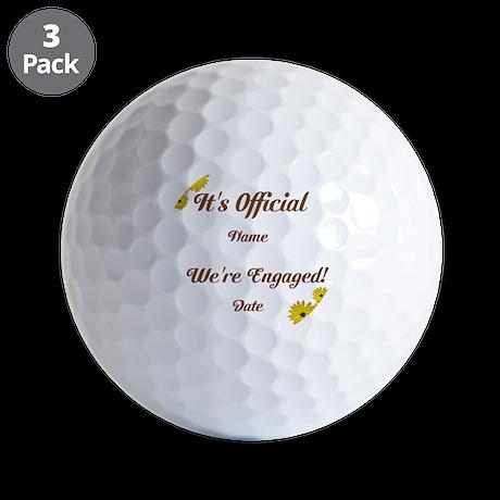 Summer, Fall Engagements Golf Balls