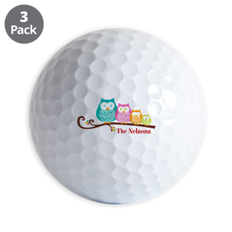 Custom owl family name Golf Balls