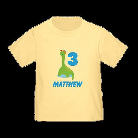 3rd Birthday Dino Toddler T-Shirt