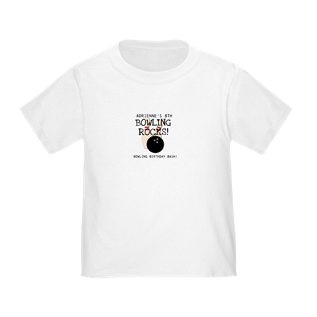 Customized Bowling Birthday Toddler T-Shirt