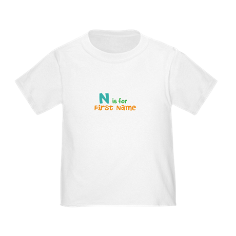 """""""Baby's Name and Initial Here"""" Toddler T-Shirt"""