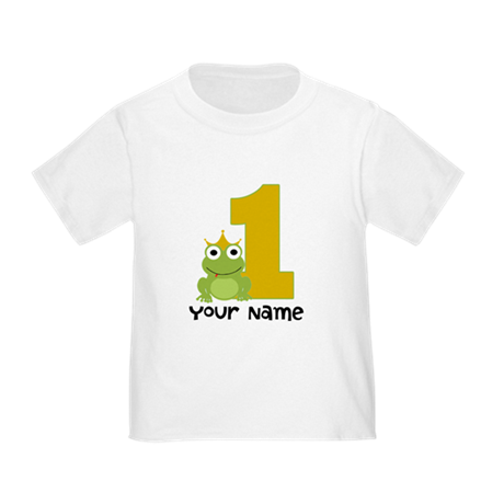 First Birthday Frog Toddler T-Shirt