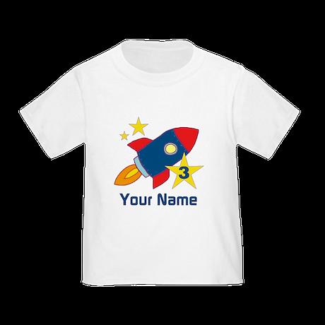 3rd Birthday Rocket Toddler T-Shirt