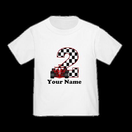 2nd Birthday Race Car Toddler T-Shirt