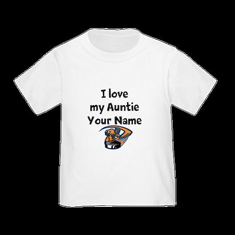 I Love My Auntie Hockey (Custom) T-Shirt
