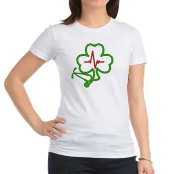 Shamrock Stethoscope Heartbeat Shirt